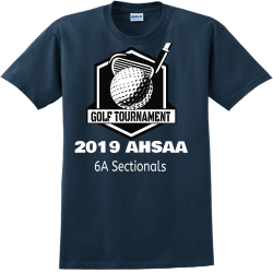 GOLF-TOURNAMENT-2019-AHSAA-6A-Sectionals recycle Adult 100% Cotton T-Shirts Gildan 2000