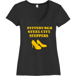 PITTSBURGH-STEEL-CITY-STEPPERS-2 Nkotb 1 Women's 50/50 Cotton/Polyester T-Shirts Alternative AA5056