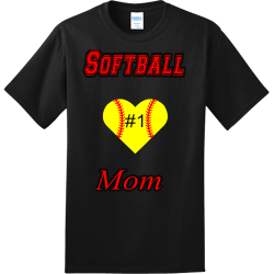 Softball---Mom-1 make hialeah great again Adult 100% Cotton T-Shirts Port And Company PC150