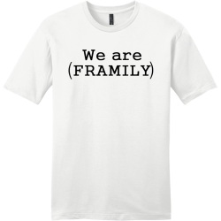 we-are-family Men's 100% Cotton T-Shirts District Threads DT6000