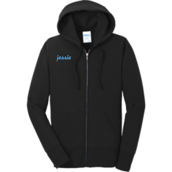 jessie-jessie Women's 50/50 Cotton/Polyester Hoodies Port And Company LPC78ZH