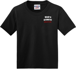 AUTOMOTIVE-Richs-908-647-6950 MOUNTAINSIDE Division Champions 20 19 U11 GIRLS Boy's 50/50 Cotton/Polyester T-Shirts Alternative 29B
