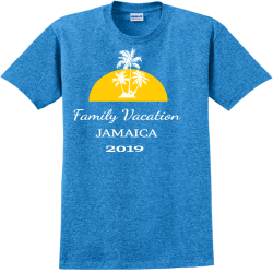 Family-Vacation-2019-JAMAICA PettyYouGotLucky Adult 100% Cotton T-Shirts Gildan 2000