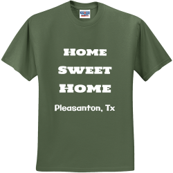 Home-Sweet-Home-Pleasanton-Tx Test Men's 50/50 Cotton/Polyester T-Shirts Jerzees 29M