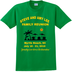 Lee-Family-T-shirt PettyYouGotLucky Adult 100% Cotton T-Shirts Gildan 2000