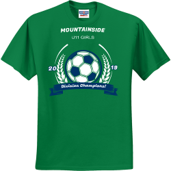 MOUNTAINSIDE-Division-Champions-20-19-U11-GIRLS Deandre Men's 50/50 Cotton/Polyester T-Shirts Jerzees 29M