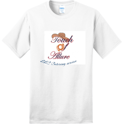 touch-of-allure-LLC-Catering-service Adult 100% Cotton T-Shirts Port And Company PC150