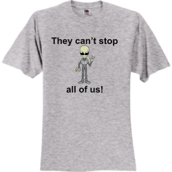 Area-51 Unisex 100% Cotton T-Shirts Fruit Of The Loom 3930