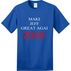 Jeff2020 Adult 100% Cotton T-Shirts Port And Company PC150