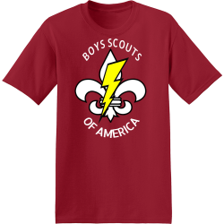 BOYS-SCOUTS-OF-AMERICA Branham Automotive Men's 50/50 Cotton/Polyester T-Shirts Hanes 5170