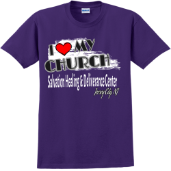 CHURCH-I---MY-Salvation-Healing--Deliverance-Center---Jersey-City-NJ SA Adult 100% Cotton T-Shirts Gildan 2000