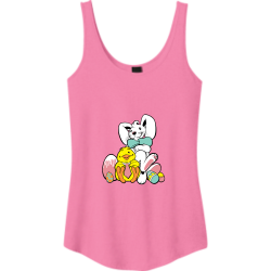 Easter Easter Junior's 100% Cotton Tank Tops District Threads DT2500