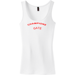 GATE-CHAMPIONS Charlotte mcdile Junior's 100% Cotton Tank Tops District Threads DT235
