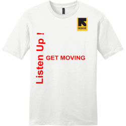 Listen-Up---GET-MOVING Men's 100% Cotton T-Shirts District Threads DT6000