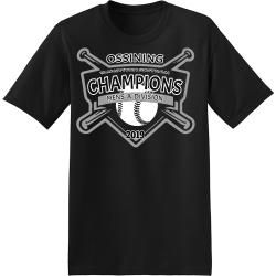OSSINING-CHAMPIONS-SLOWPITCH-SOFTBALL-MENS-A-DIVISION-2019 Branham Automotive Men's 50/50 Cotton/Polyester T-Shirts Hanes 5170