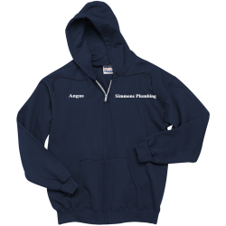 Simmons--Plumbing-Angus--Simmons-Plumbing Men's 100% Cotton Hoodies Hanes F283