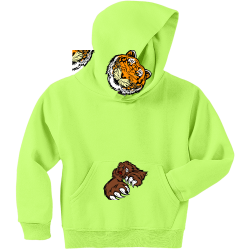Tiger Thunder Boy's 50/50 Cotton/Polyester Hoodies Jerzees 996Y