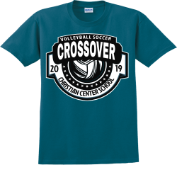 VOLLEYBALL-SOCCER-CROSSOVER-CHRISTIAN-CENTER-SCHOOL-20-19 SA Adult 100% Cotton T-Shirts Gildan 2000
