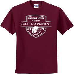 GOLF-TOURNAMENT--MADISON-SENIOR-CENTER-20-20 Create Men's 50/50 Cotton/Polyester T-Shirts Jerzees 29M