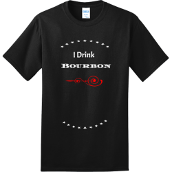I-Drink-Bourbon--And-I-Know-Things POWDER PUFF FOOTBALL 19 20 Adult 100% Cotton T-Shirts Port And Company PC150