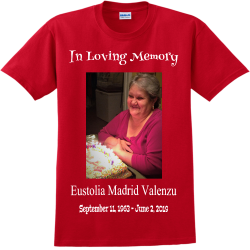 In-Loving-Memory--Eustolia-Madrid-Valenzuela-September-11-1963---June-2-2019 G Adult 100% Cotton T-Shirts Gildan 2000