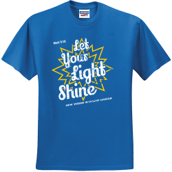 Let-Your-Light-Shine-Matt-516-NEW-VISION-WORSHIP-CENTER Create Men's 50/50 Cotton/Polyester T-Shirts Jerzees 29M