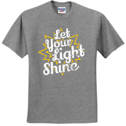 Light_shine Create Men's 50/50 Cotton/Polyester T-Shirts Jerzees 29M