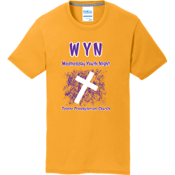 WYN-Wednesday-Youth-Night--Tolono-Presbyterian-Church Boy's 50/50 Cotton/Polyester T-Shirts Port And Company PC381Y