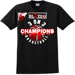 CHAMPIONS-BASKETBALL-3-ON-3----2ND Create Adult 100% Cotton T-Shirts Gildan 2000