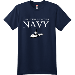 UNITED-STATES-NAVY Men's 100% Cotton T-Shirts Hanes 4980