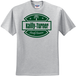 20-Kailly-Turner-Family-Reunion-20 UP TO DATE AUDIO VIDEO Men's 50/50 Cotton/Polyester T-Shirts Jerzees 29M