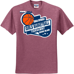 2020-ESDAA-DIVISION-II-GIRLS-BASKETBALL-TOURNAMENT-RHODE-ISLAND UP TO DATE AUDIO VIDEO Men's 50/50 Cotton/Polyester T-Shirts Jerzees 29M