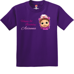 Happy-1st--Avianna-Birthday 2019 COUSIN CAMP 1 Boy's 100% Cotton T-Shirts