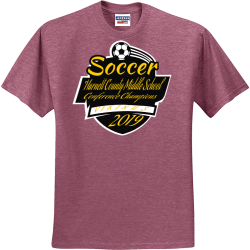 Soccer-Harnett-County-Middle-School-Conference-Champions-VIKINGS-2019 UP TO DATE AUDIO VIDEO Men's 50/50 Cotton/Polyester T-Shirts Jerzees 29M