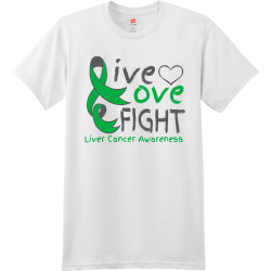 ive-ove-FIGHT-Liver-Cancer-Awareness Men's 100% Cotton T-Shirts Hanes 4980