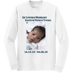In-Loving-Memory--Ashton--Prince-Young-12.13.18---06.02.18 Mine Unisex 50/50 Cotton/Polyester Long Sleeves Gildan 8400