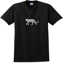 Leopard-Composition Lee Shirt 1 Adult 100% Cotton T-Shirts Gildan 2000