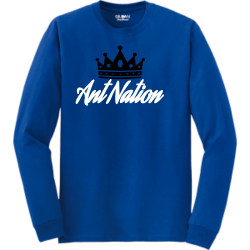 A-nation Mine Unisex 50/50 Cotton/Polyester Long Sleeves Gildan 8400