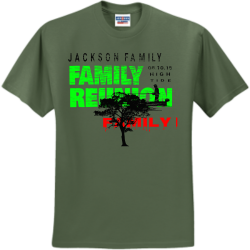 Family-thing Green Leaf Tree Service Land Clearing 843845 1918  Men's 50/50 Cotton/Polyester T-Shirts Jerzees 29M