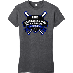 GREENFIELD-PTO-TOURNAMENT-CO-ED-SOFTBALL-2020 GREENFIELD PTO TOURNAMENT CO ED SOFTBALL 2020 Junior's 100% Cotton T-Shirts District Threads DT6001