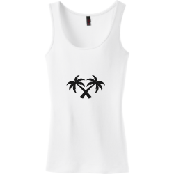 Palm Charlotte mcdile Junior's 100% Cotton Tank Tops District Threads DT235