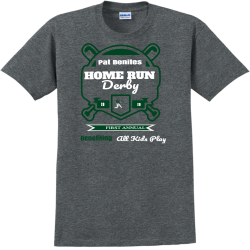 Pat-Benites---HOME-RUN-Derby-20-Benefiting--All-Kids-Play-20-FIRST-ANNUAL Brooke  SWIMMING Kevin Adult 100% Cotton T-Shirts Gildan 2000