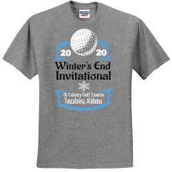 Winters-End-Invitational-Ol-Colony-Golf-Course-20-Tuscaloosa-Alabama-20 Green Leaf Tree Service Land Clearing 843845 1918  Men's 50/50 Cotton/Polyester T-Shirts Jerzees 29M