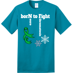 borN-to-Fight-euro-ibromatosis POWDER PUFF FOOTBALL 19 20 Adult 100% Cotton T-Shirts Port And Company PC150