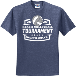 BEACH-VOLLEYBALL-TOURNAMENT-20-20-BURRILLVILLE Winters End Invitational Ol Colony Golf Course 20 Tuscaloosa Alabama 20 Men's 50/50 Cotton/Polyester T-Shirts Jerzees 29M