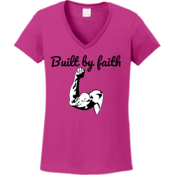 Built-by-faith One of a kind Women's 100% Cotton T-Shirts Gildan 5V00L