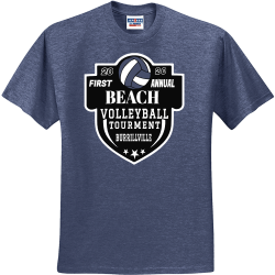 FIRST-ANNUAL-20-20-BEACH-VOLLEYBALL-TOURMENT-BURRILLVILLE Winters End Invitational Ol Colony Golf Course 20 Tuscaloosa Alabama 20 Men's 50/50 Cotton/Polyester T-Shirts Jerzees 29M