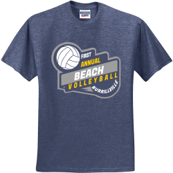 FIRST-ANNUAL-BEACH-VOLLEYBALL-BURRILLVILLE Winters End Invitational Ol Colony Golf Course 20 Tuscaloosa Alabama 20 Men's 50/50 Cotton/Polyester T-Shirts Jerzees 29M