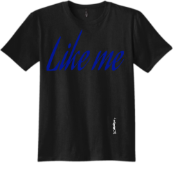 LIKE-ME-SHIRT Haha Adult 100% Cotton T-Shirts District Threads DT5000