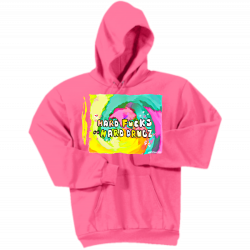 """HARD FUCKS ON HARD DRUGZ"" PINK HOODIE"
